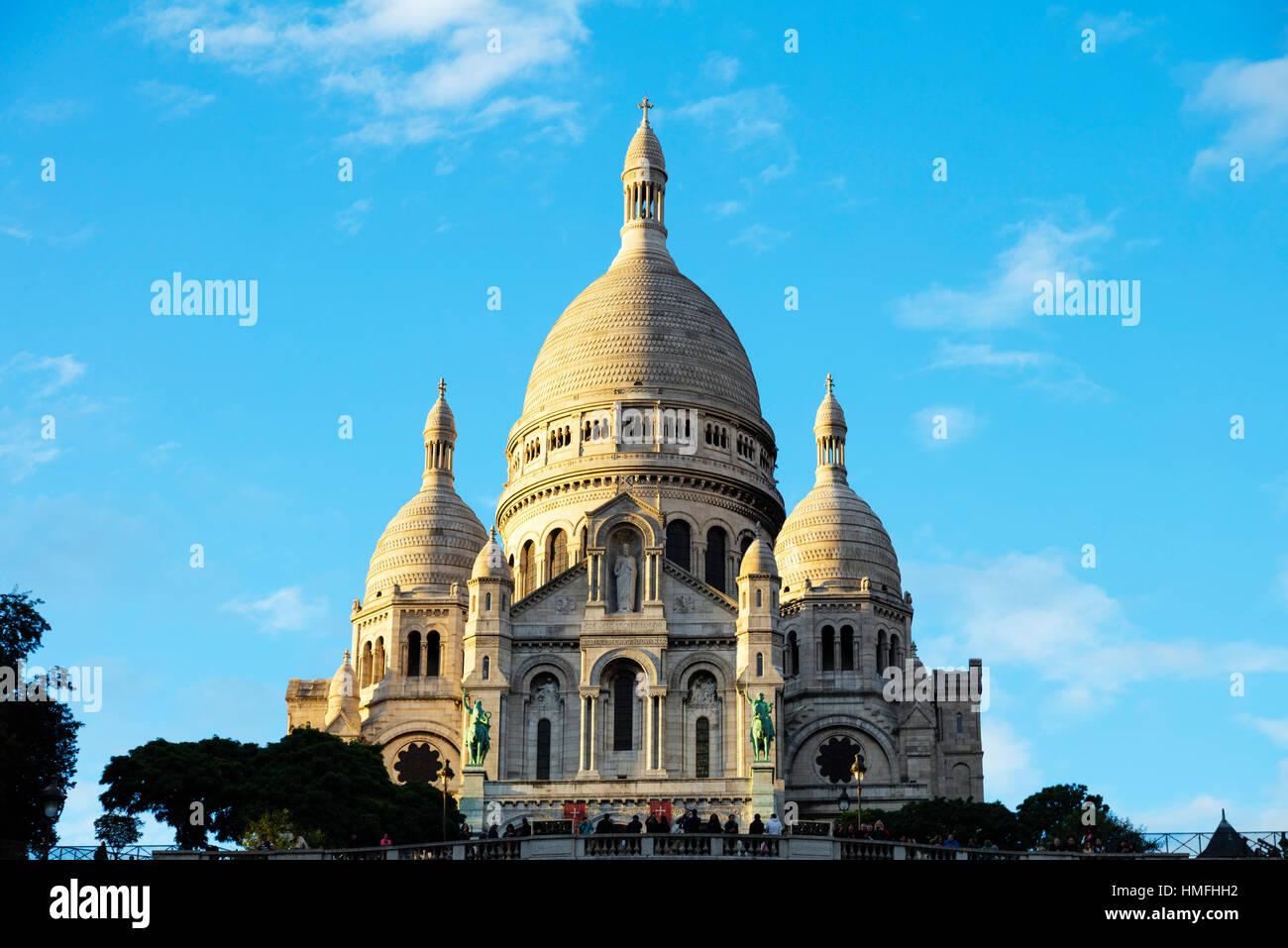 Sacre Coeur Basilica, Montmartre, Paris, France - Stock Image