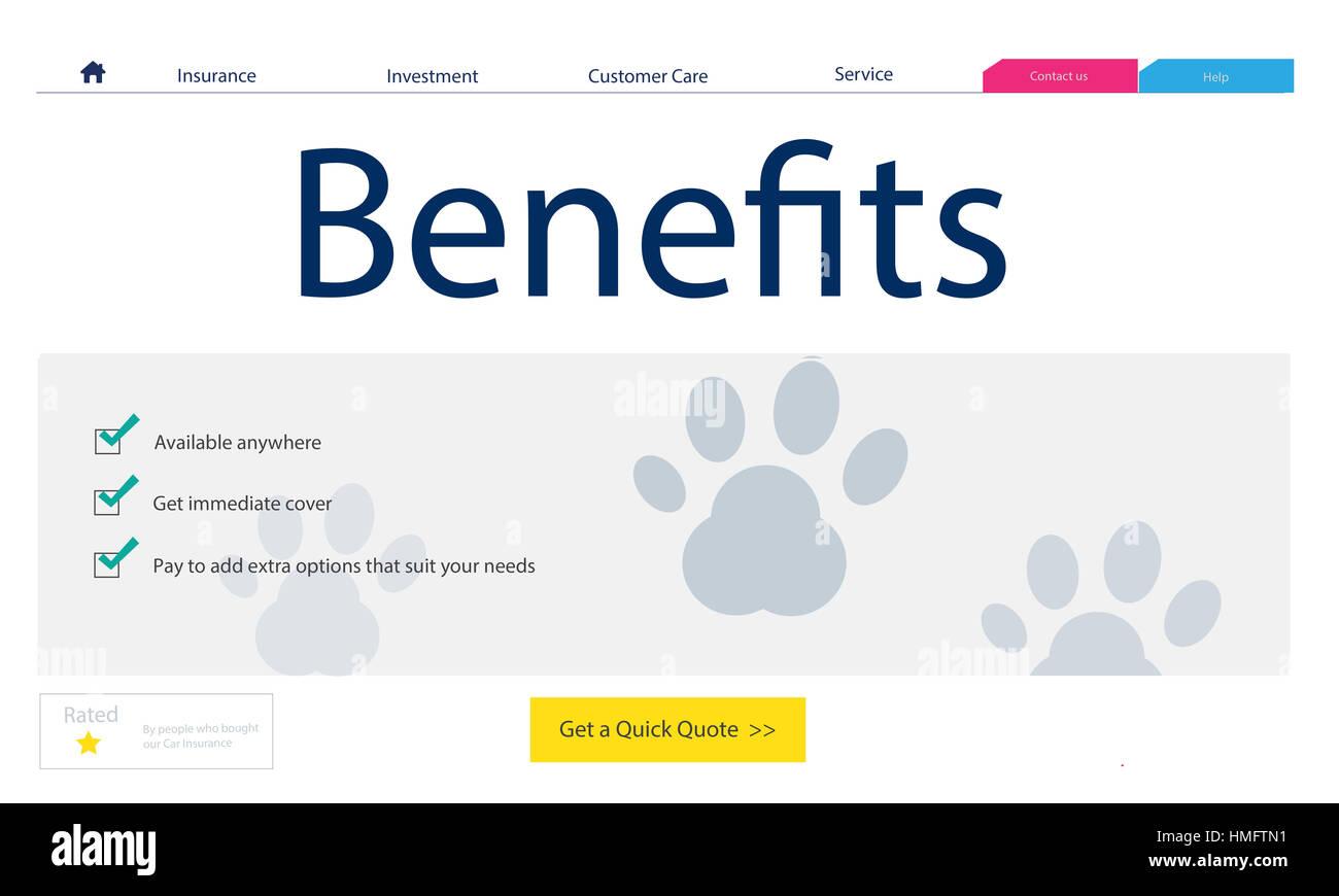 Pet Insurance Protection Compensation Concept - Stock Image