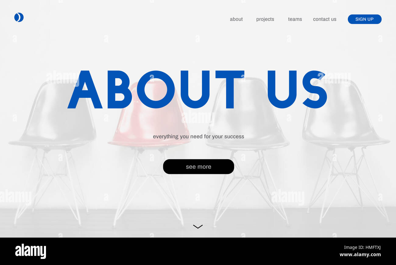 Customer care webpage interface word - Stock Image