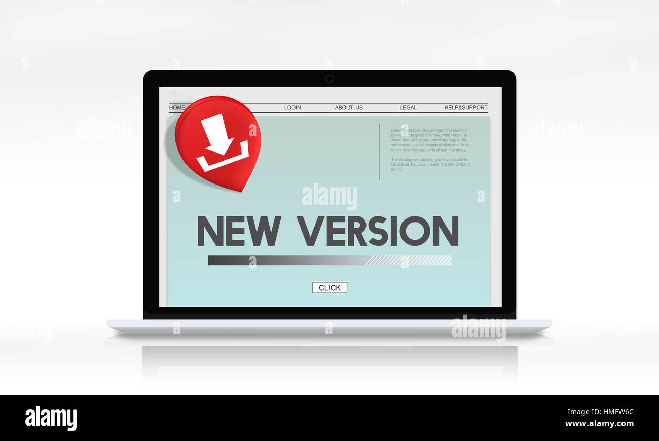 New Version Download Application Concept - Stock Image