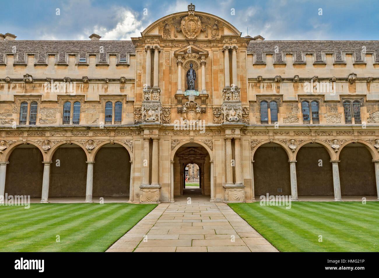 Front Of Rear Quadrangle St. John's College Oxford UK - Stock Image