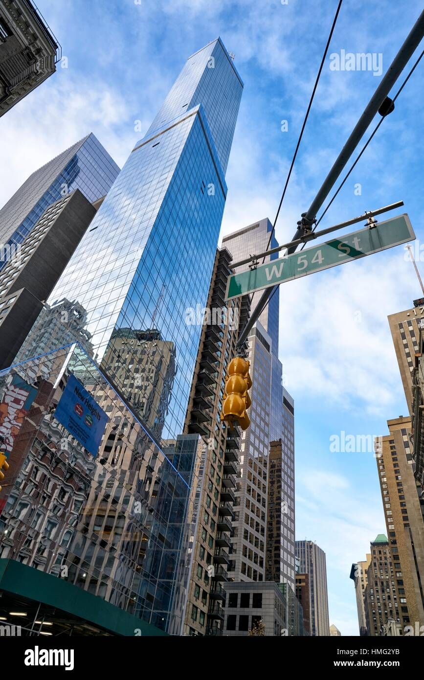 Modern Architecture buildings in Manhattan, New York City, USA - Stock Image