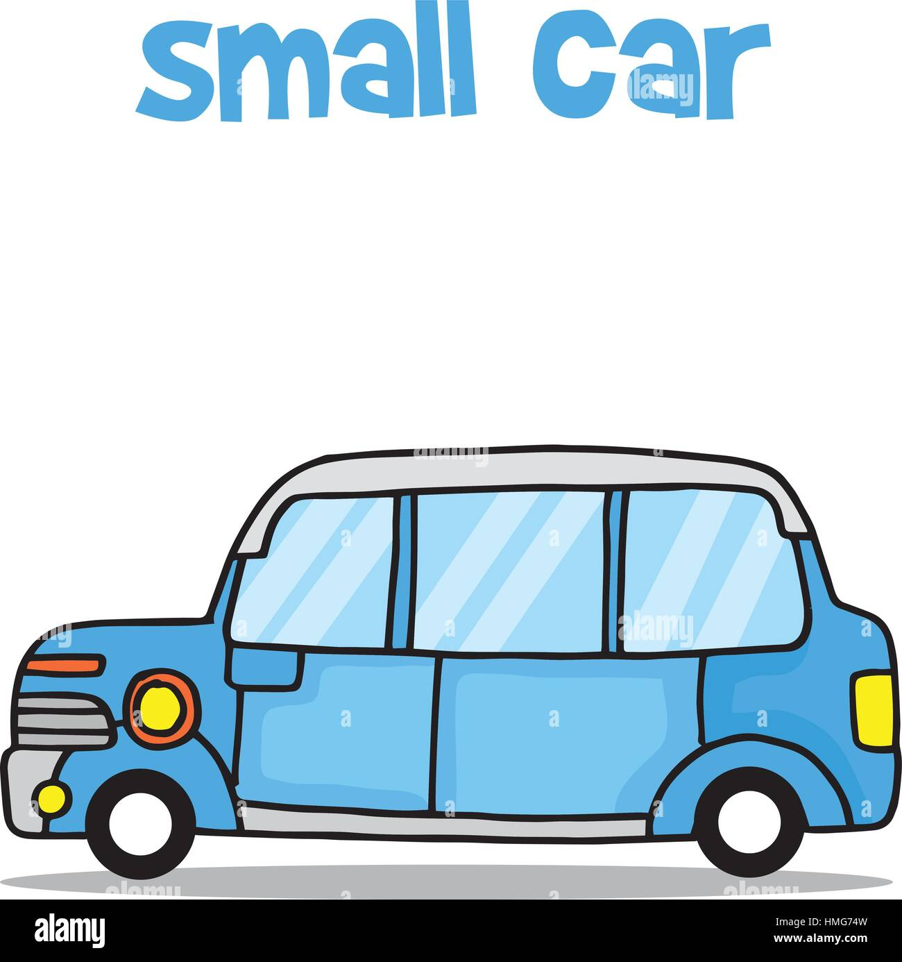 Transport of small car collection - Stock Vector
