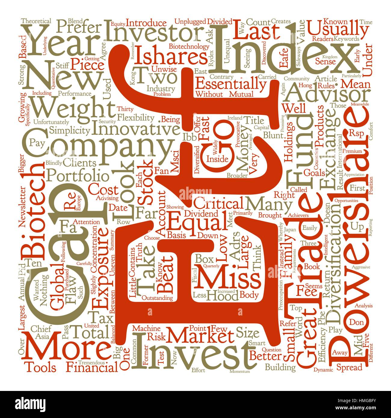 ETFs Unplugged text background word cloud concept Stock Vector