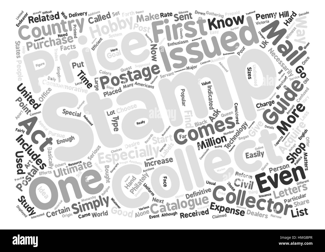 Postal Stamps Black and White Stock Photos & Images - Alamy