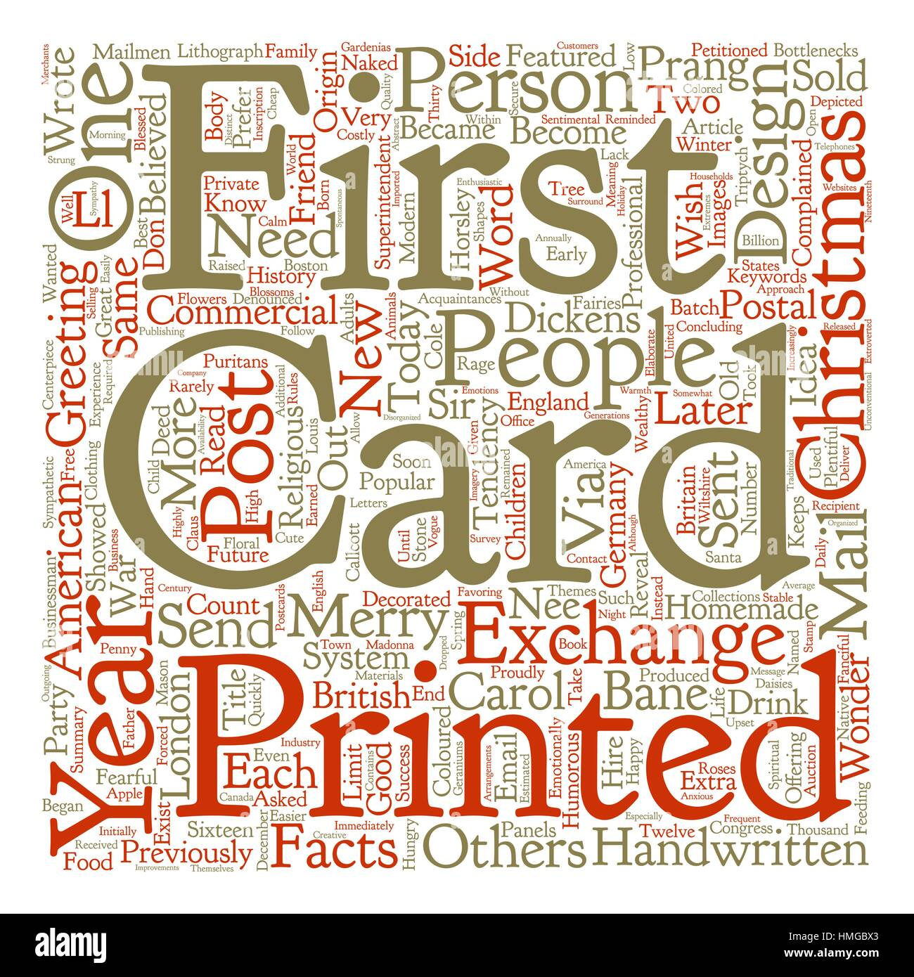 Christmas Cards Facts Word Cloud Concept Text Background Stock ...