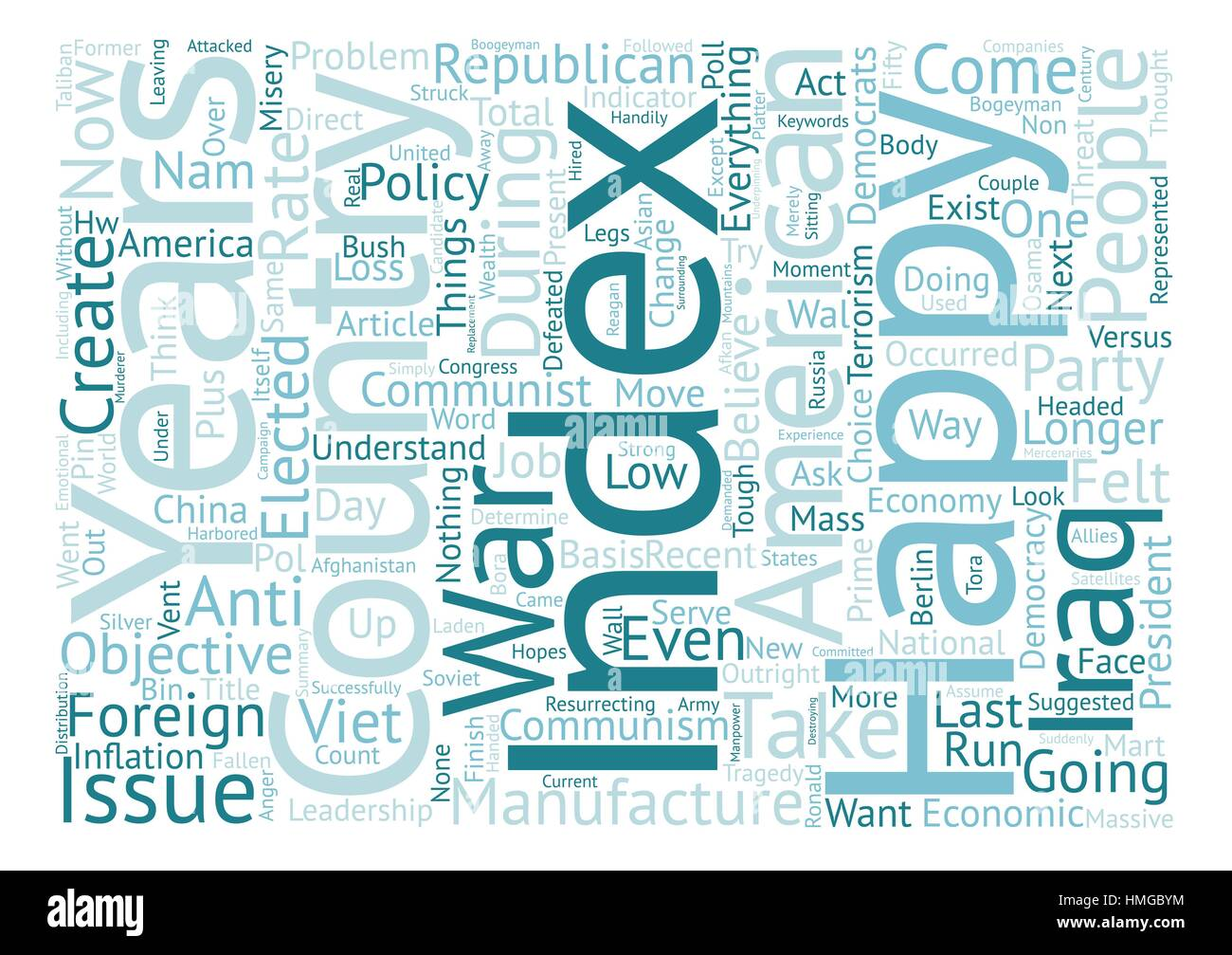 America s Happiness Index At New Low text background word cloud concept - Stock Vector