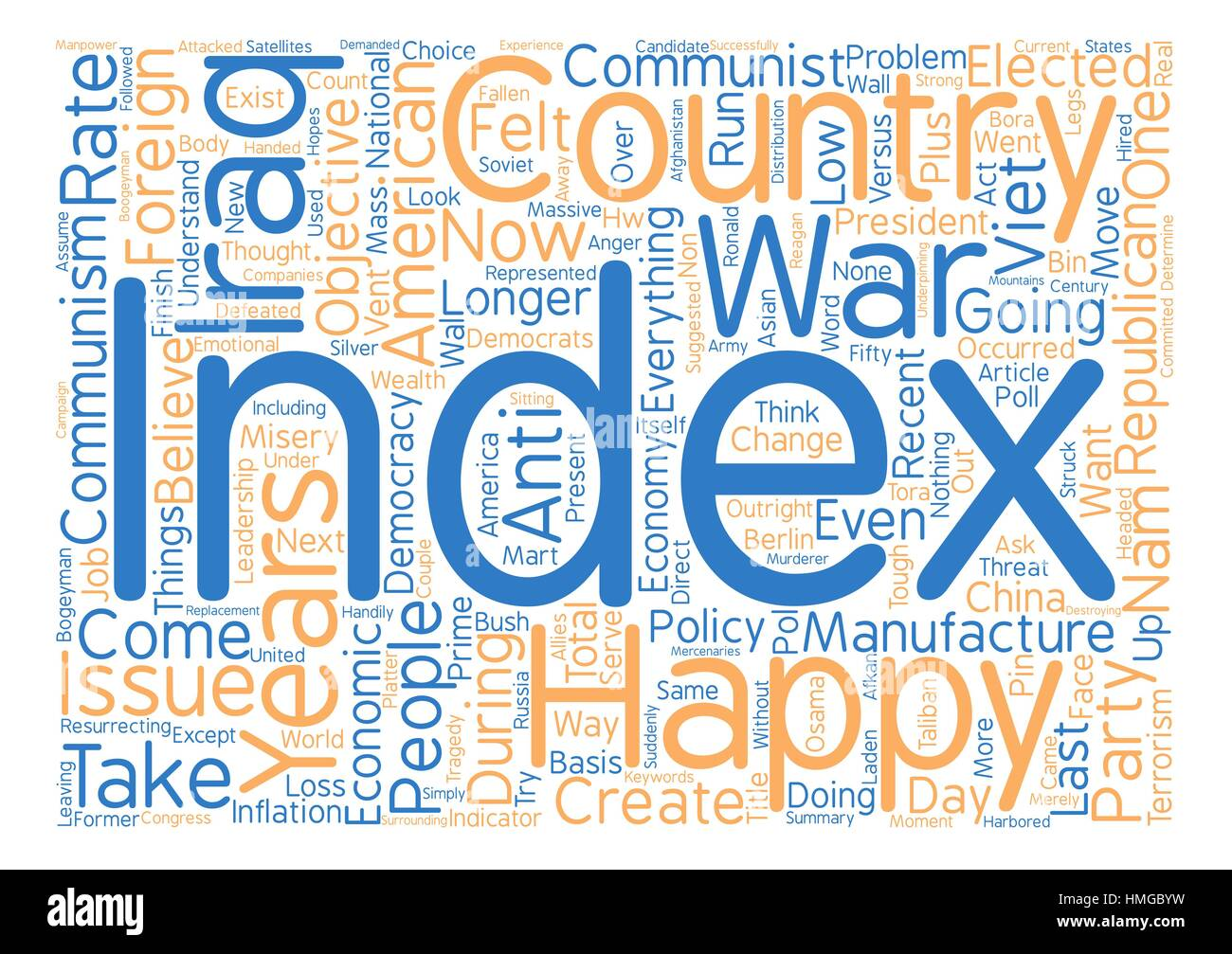 America s Happiness Index At New Low text background wordcloud concept - Stock Vector