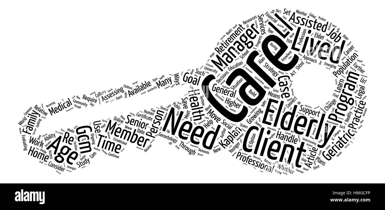 A New Strategy to Meet the Needs of the Elderly text background word cloud concept - Stock Vector