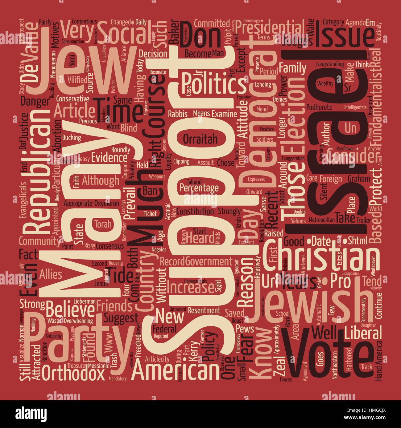 a republican jew no it s not an oxymoron text background word cloud concept - Stock Vector