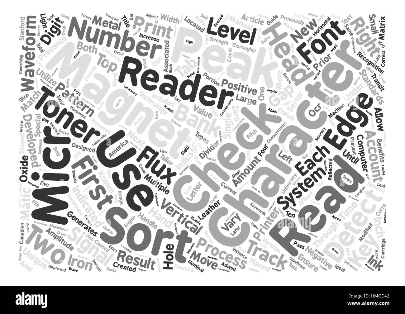 A Concise Guide To MICR And Associated Technologies text background word cloud concept - Stock Image