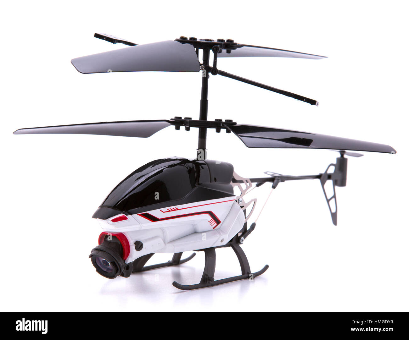 Helicopter Drone with Camera on a white background - Stock Image