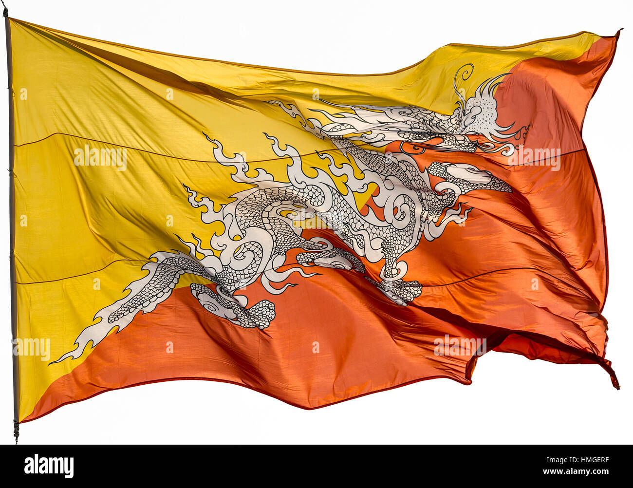 Bhutan National Flag Stock Photos Bhutan National Flag Stock