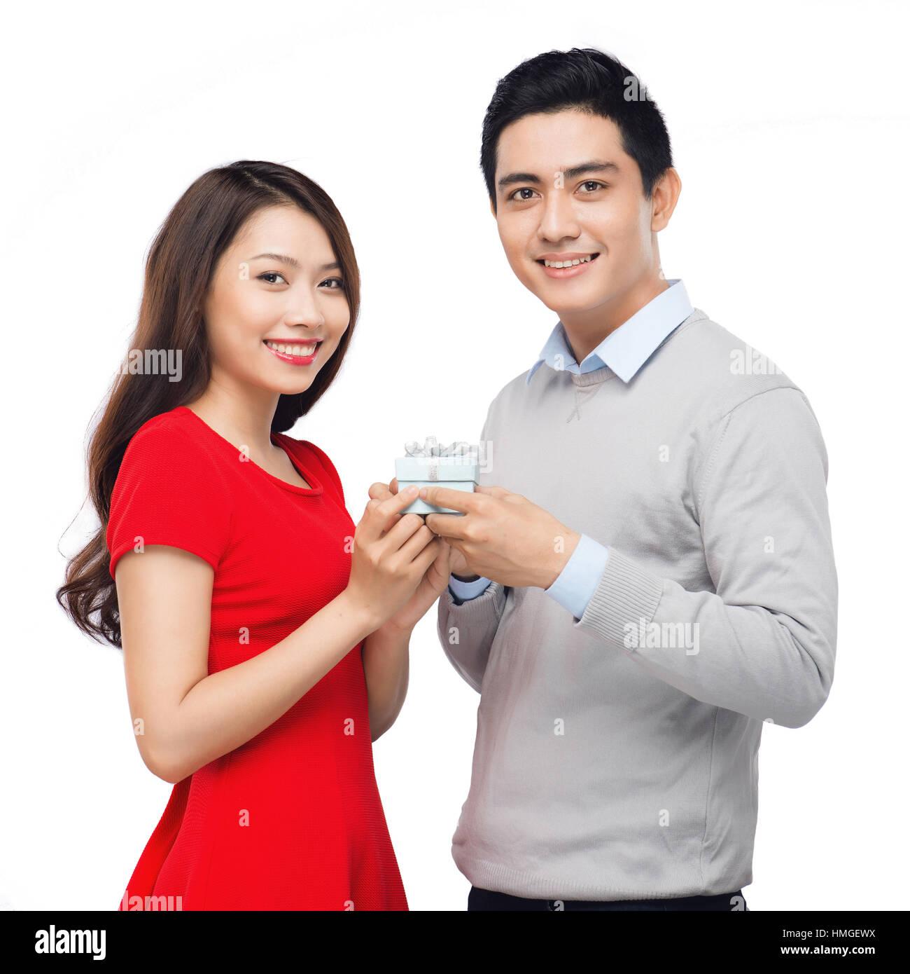 Asian man and woman