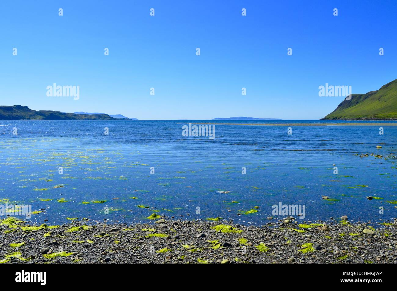 Looking out across Loch Brittle - Stock Image