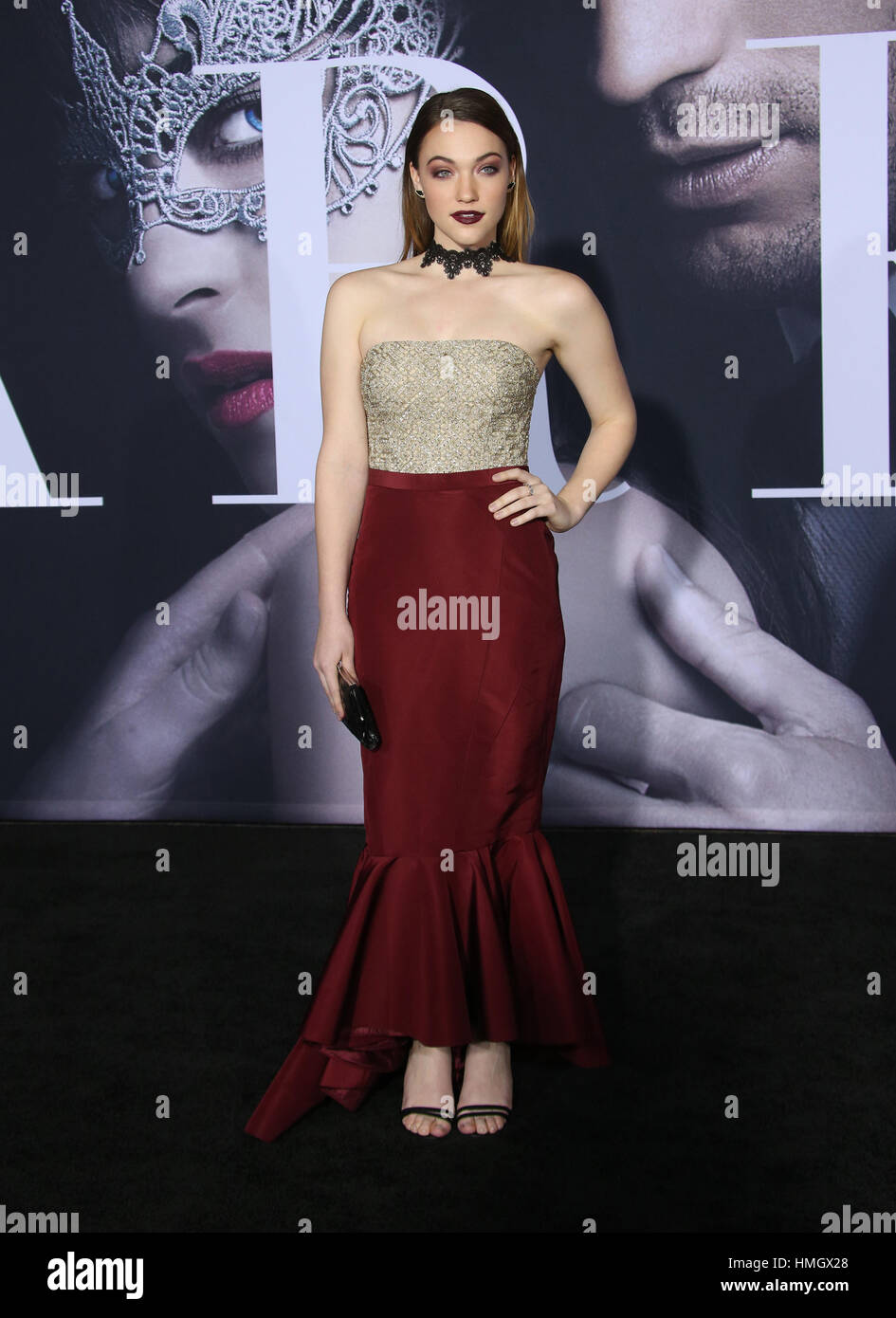 """Los Angeles, CA - FEBRUARY 2, Violett Beane, At Premiere Of Universal Pictures' """"Fifty Shades Darker"""", At The Theatre Stock Photo"""