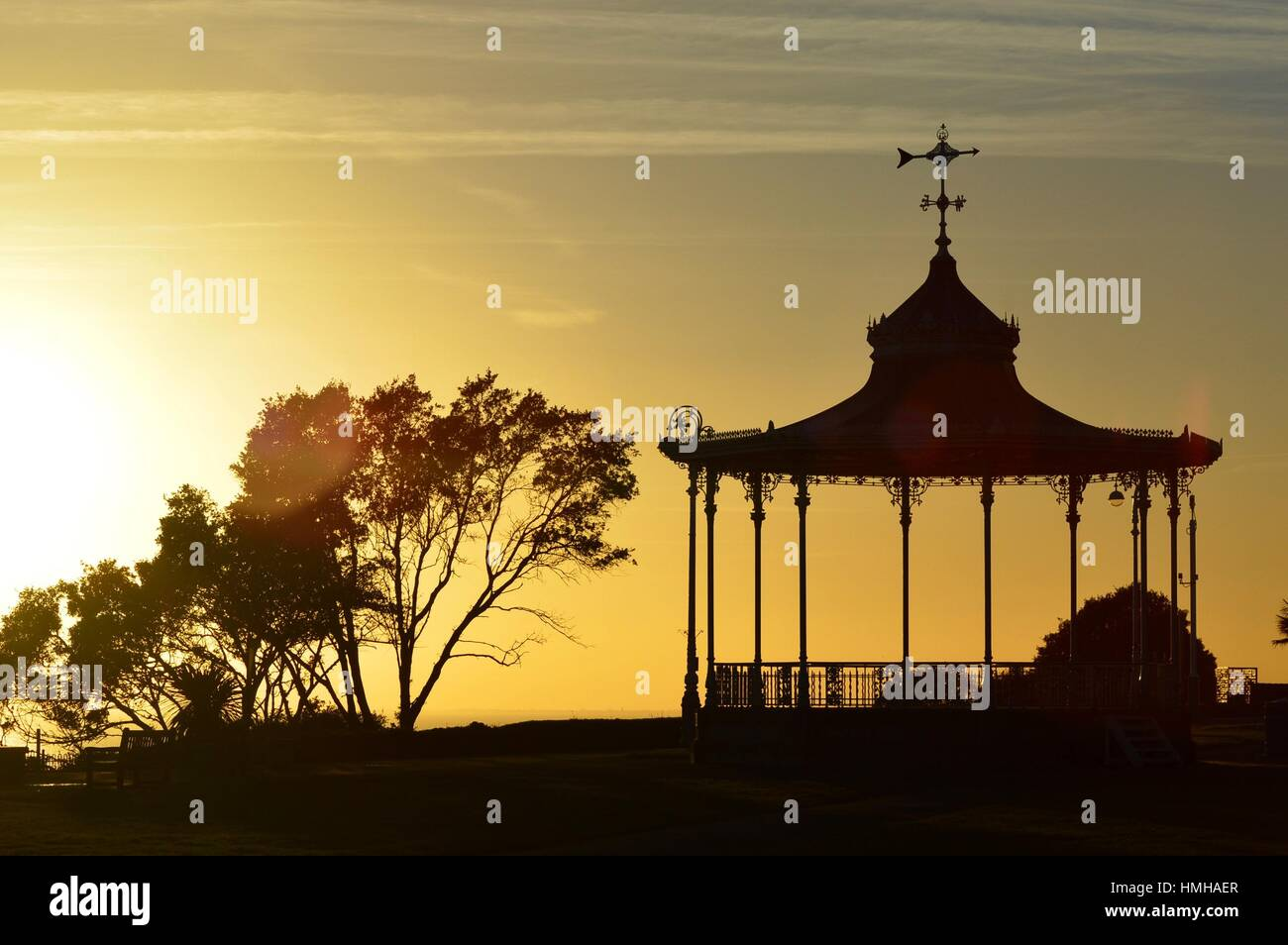 Ornate Bandstand - Stock Image