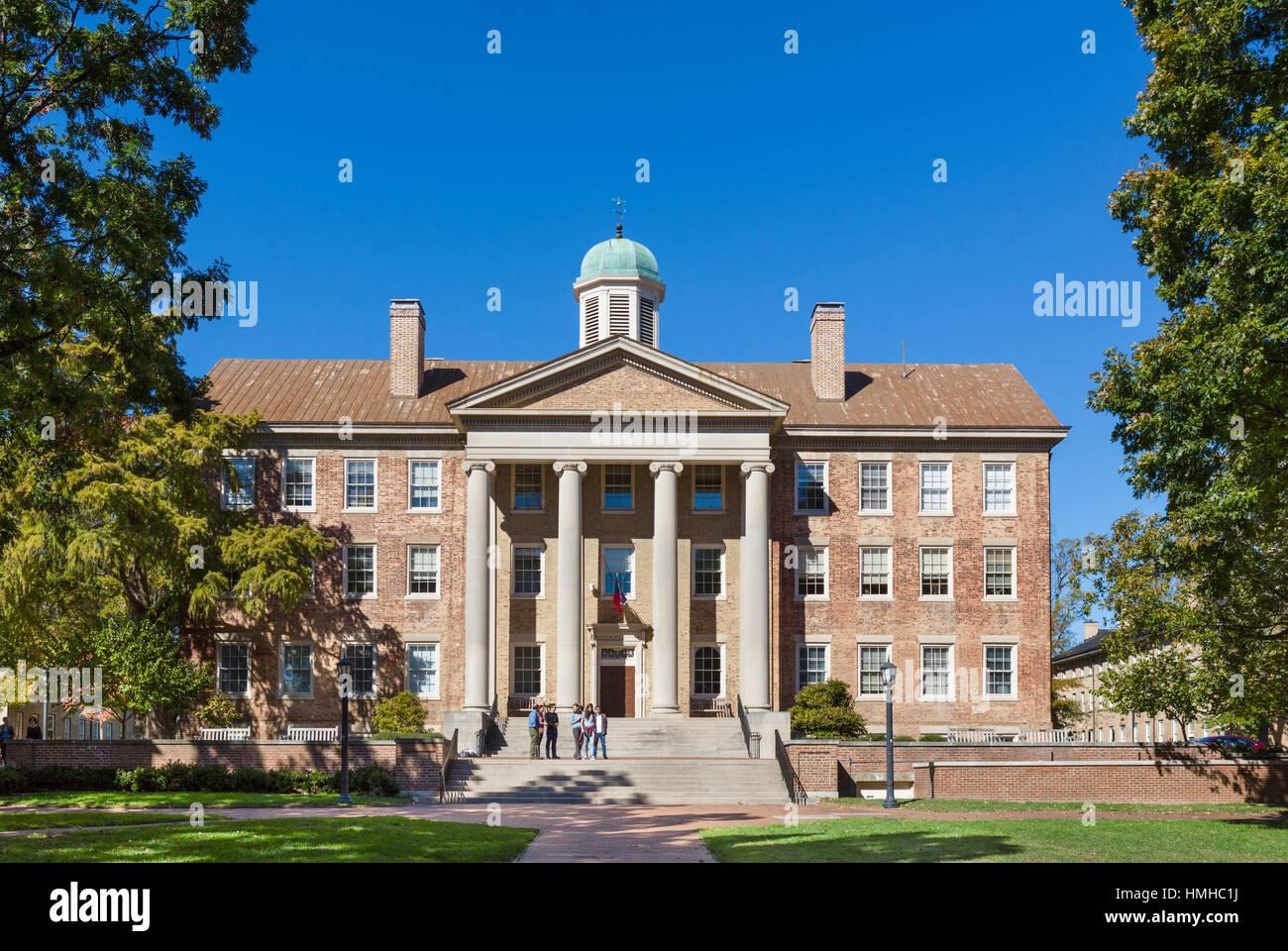 The South Building at the University of North Carolina at Chapel Hill, North Carolina, USA - Stock Image