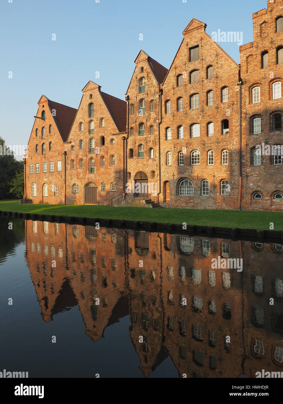 salt storages of Luebeck, Germany - Stock Image