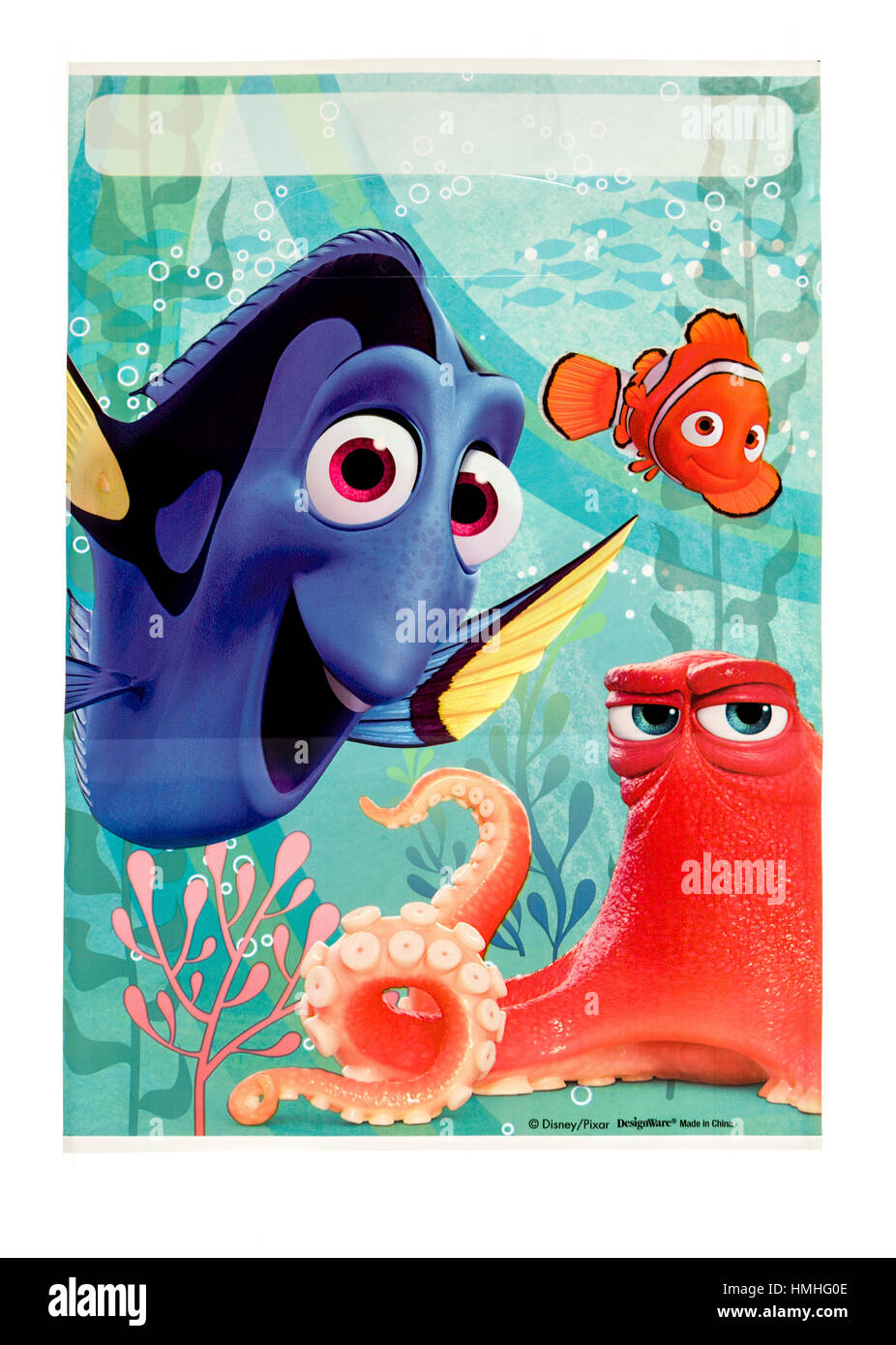 Winneconne, WI -29 January 2017:   Finding Dory loot bag on an isolated background. - Stock Image