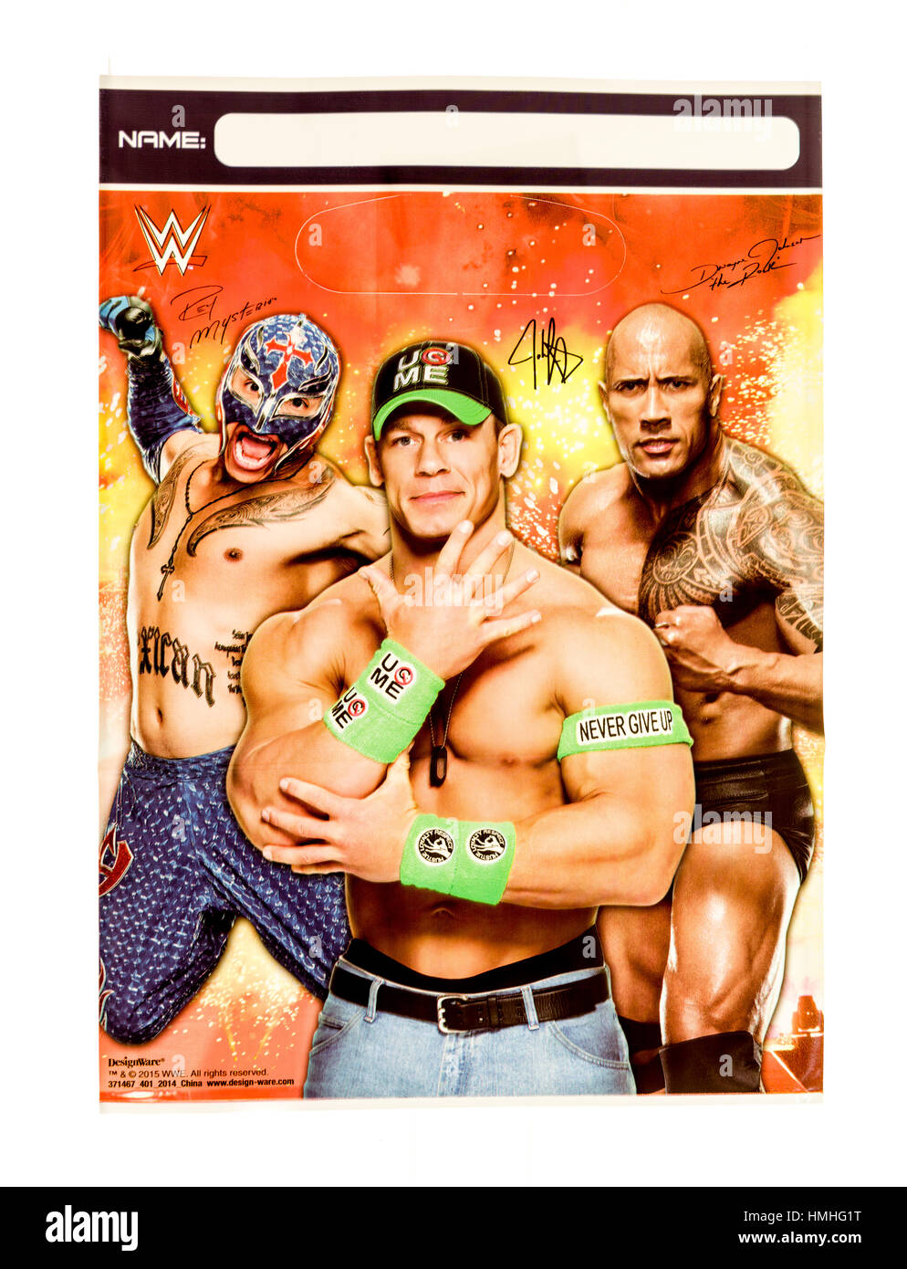 Winneconne, WI -29 January 2017:   WWE loot bag on an isolated background. - Stock Image