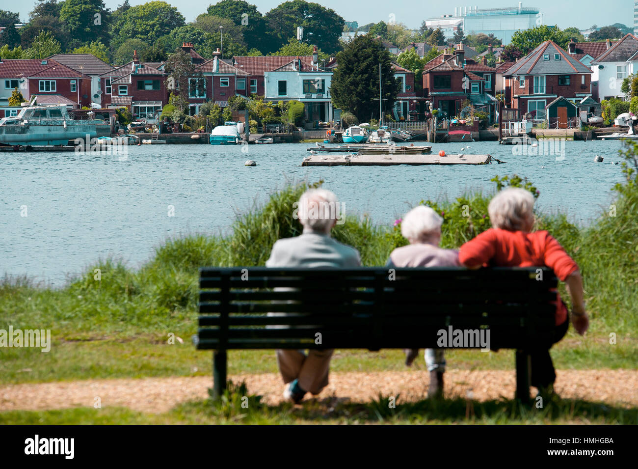 The river Itchen in Hampshire, UK - Stock Image