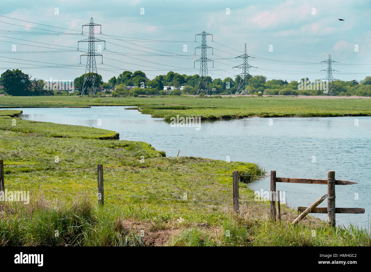 Views of the river Test in Southampton, Hampshire area. - Stock Image