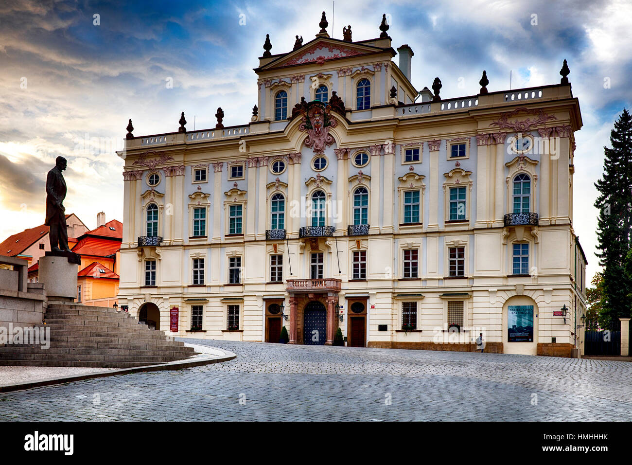 View of a National Gallery Buildinhg of Prague, Stemberg Palace,  Czech Republic - Stock Image