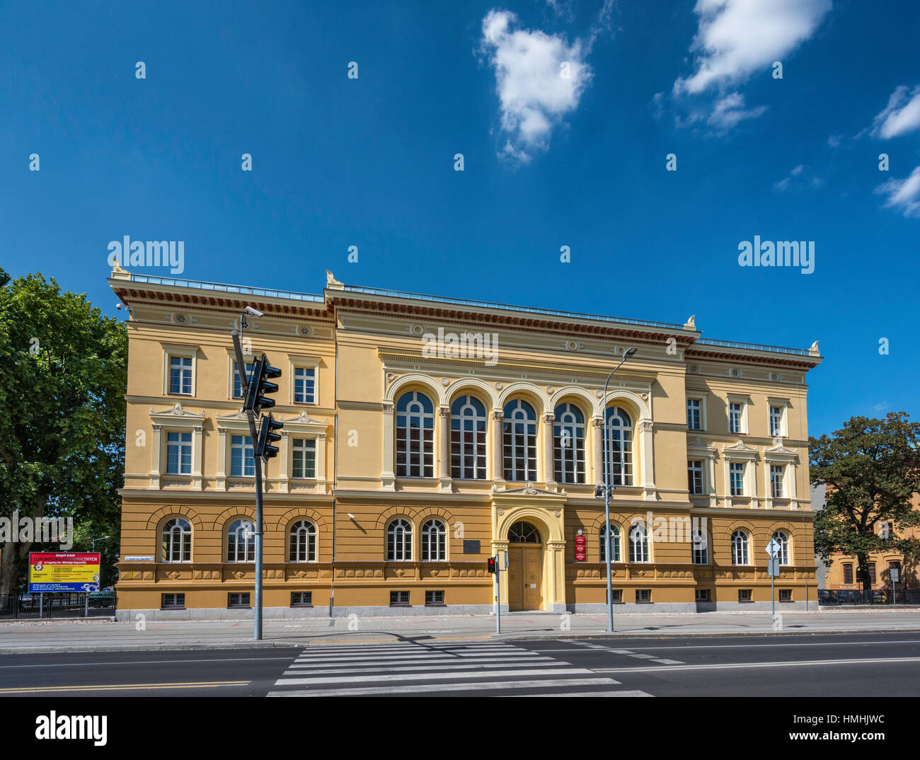 trade school in legnica 1867 neoclassical style former gymnasium high school