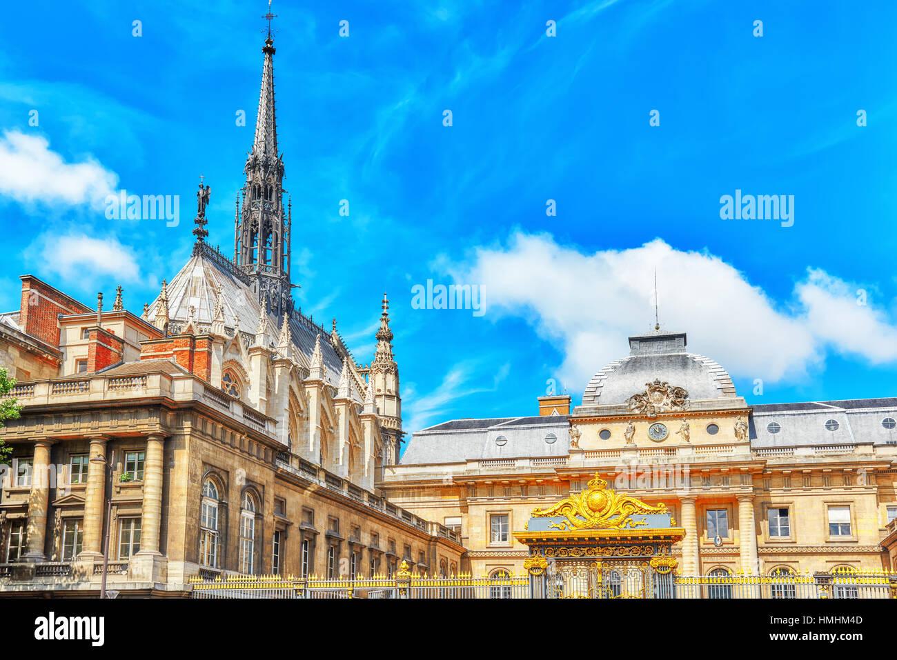Paris Courthouse (Palais de Justice de Paris) in Paris. France. - Stock Image