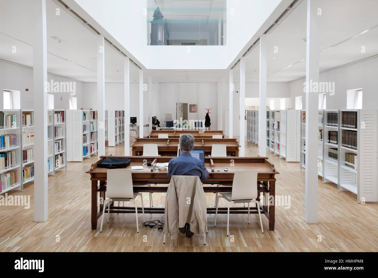 Archive of rare and historical manuscripts. Conde Duque Centre Art. Madrid. Spain. - Stock Image