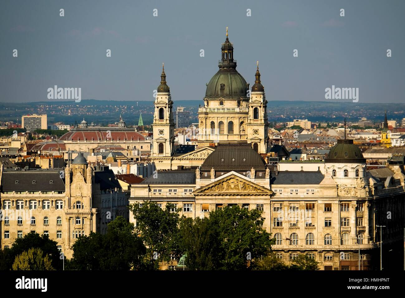 View ate the basilica in Budapest, Hungary. Stock Photo