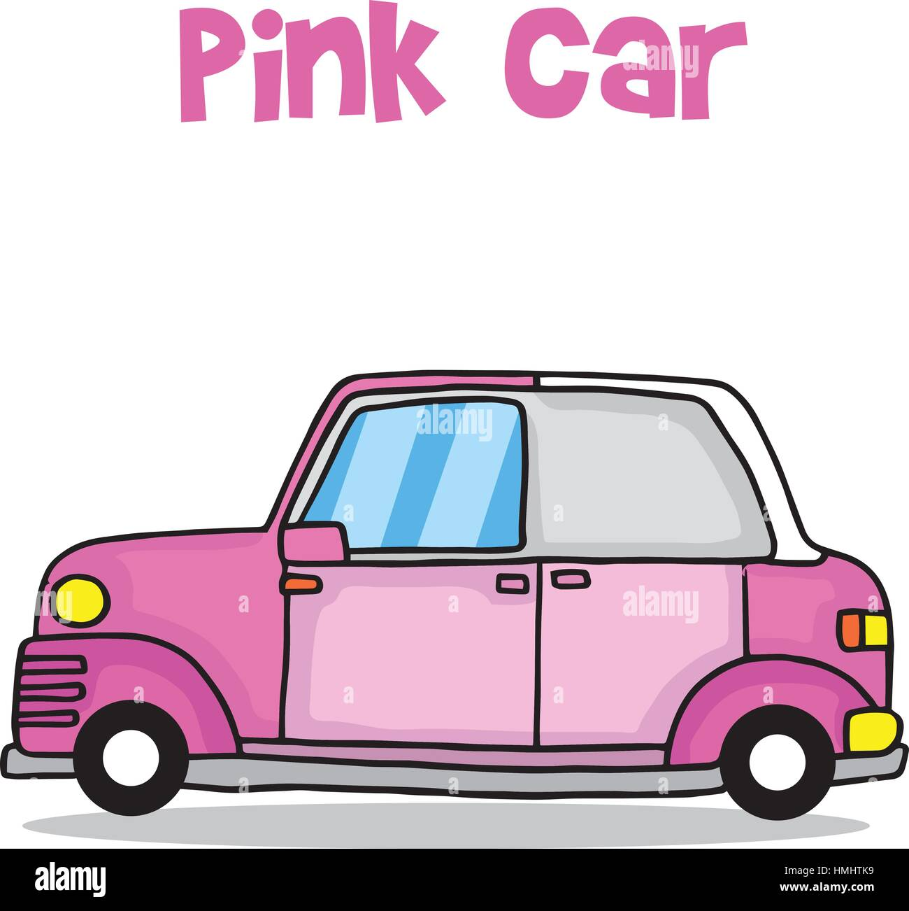 Transport of pink car vector illustration - Stock Vector