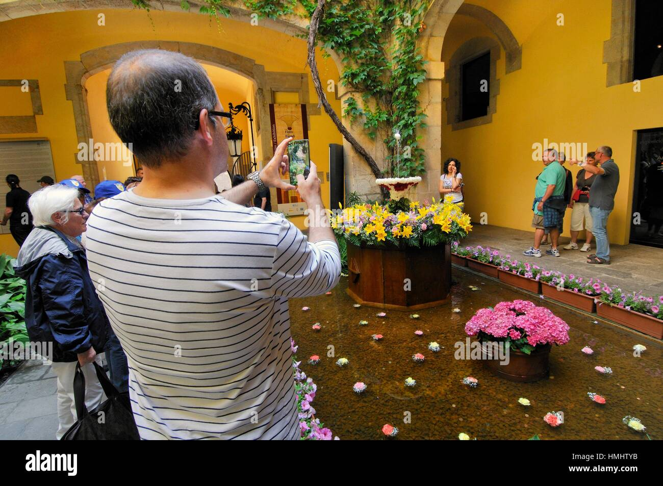 The dancing egg ('l´ou com balla' in Catalan) is an old tradition that takes place in several towns - Stock Image