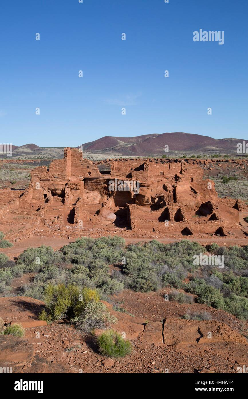 Wupatki Pueblo, Inhabited from approximately 1,100 AD to 1,250 AD, Wupatki National Monument, Arizona, USA - Stock Image