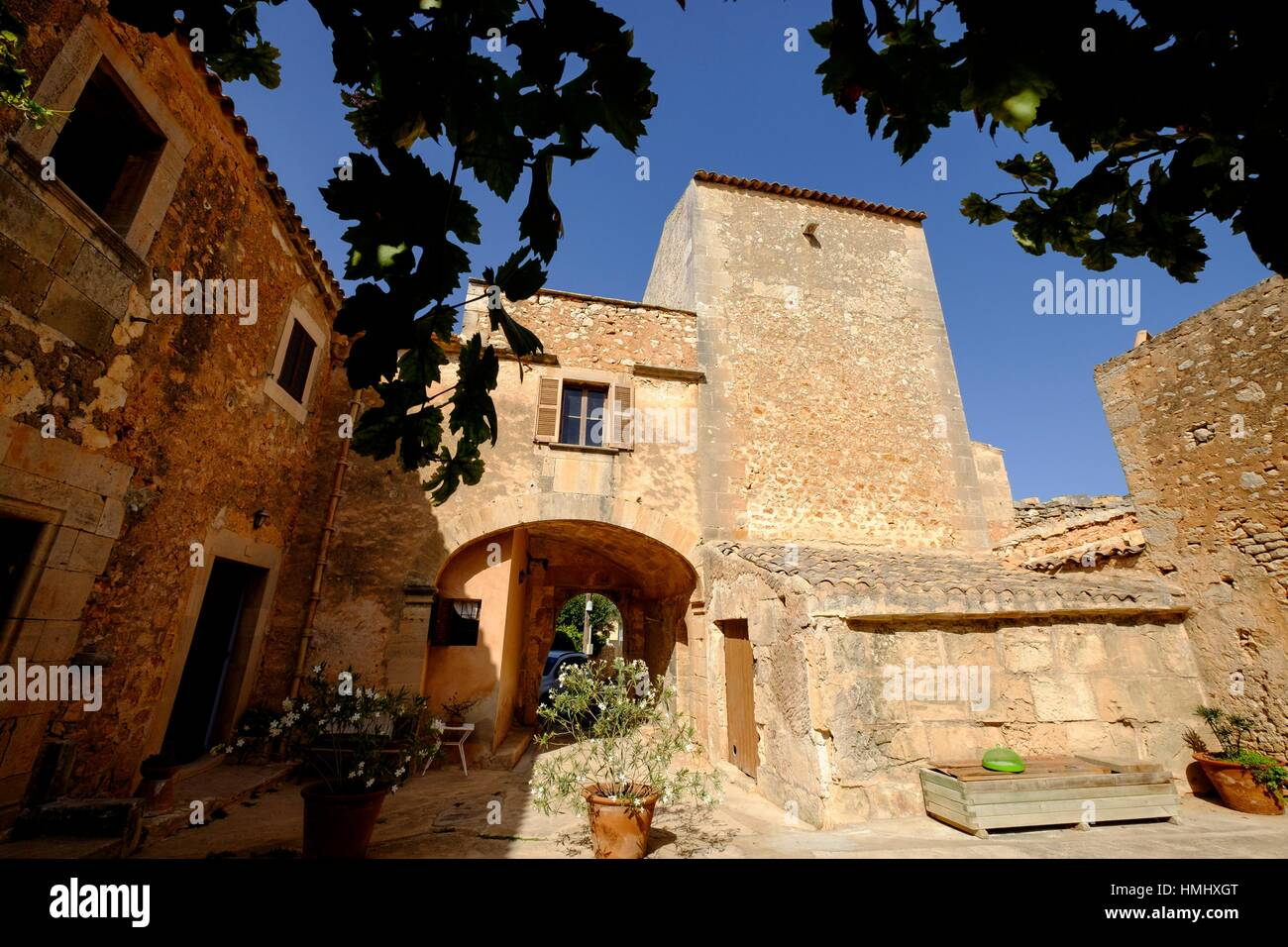 Son Amer, casa fortificada del siglo XVI, Es Llombarts, Majorca, Balearic Islands, Spain - Stock Image