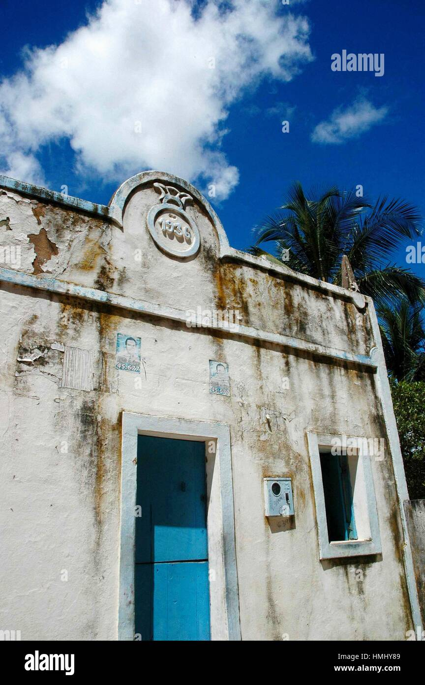 Brazil, Ceara State, Jericoacoara, a 1936 House in the Village. Stock Photo
