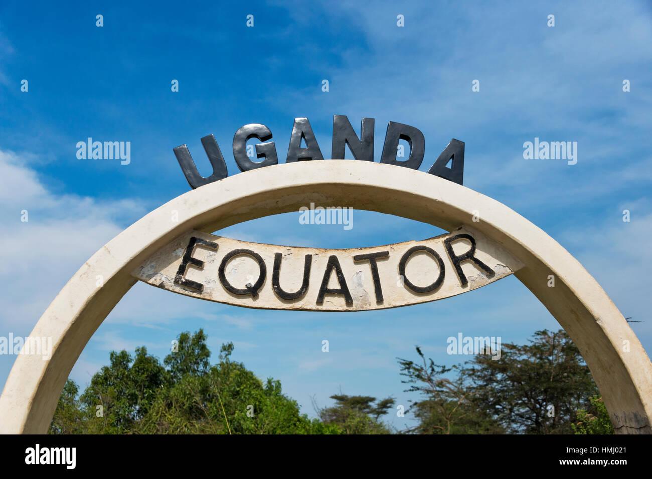 Monument at Uganda Equator, Uganda - Stock Image