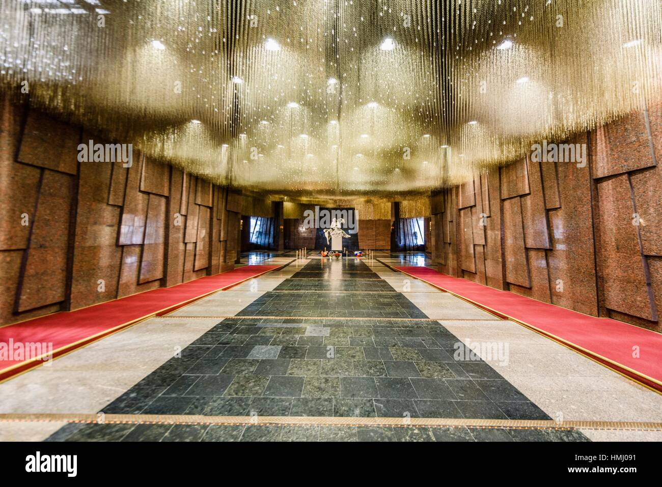 Memorial to victims in the Museum of the Great Patriotic War (Moscow). - Stock Image