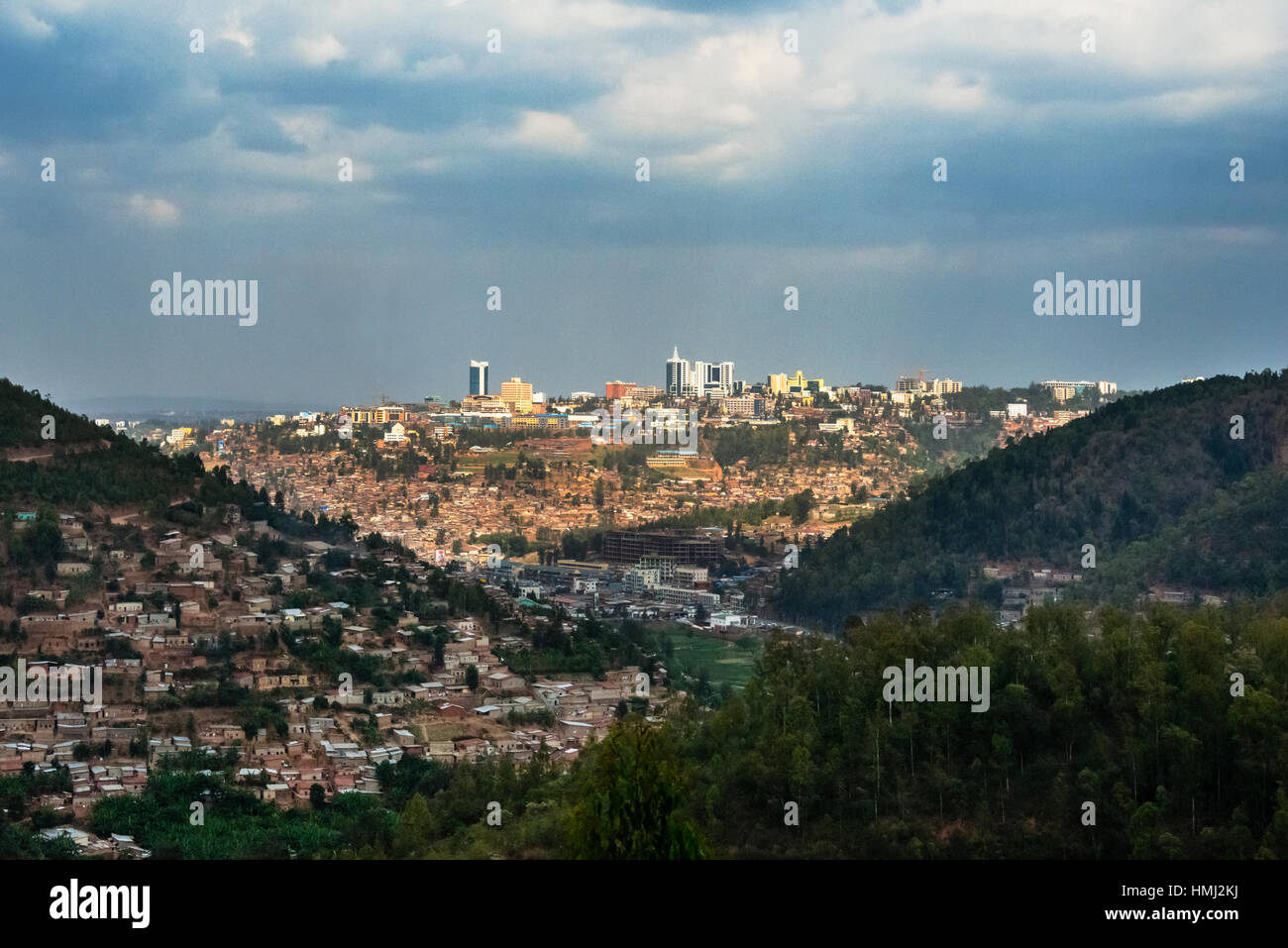 City of Kigali in the distance, Rwanda - Stock Image