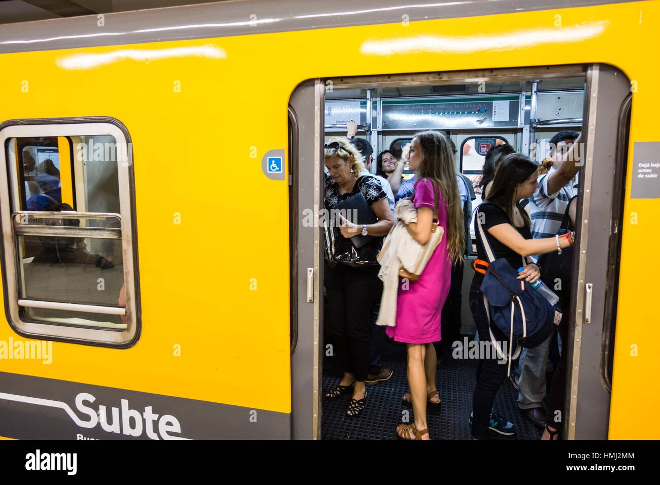 Undergroung (locally known as Subte) station, Buenos Aires, Argentina - Stock Image