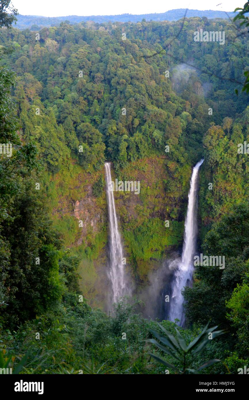 Tad Fane Waterfall, Boloven, Laos, South East Asia. - Stock Image