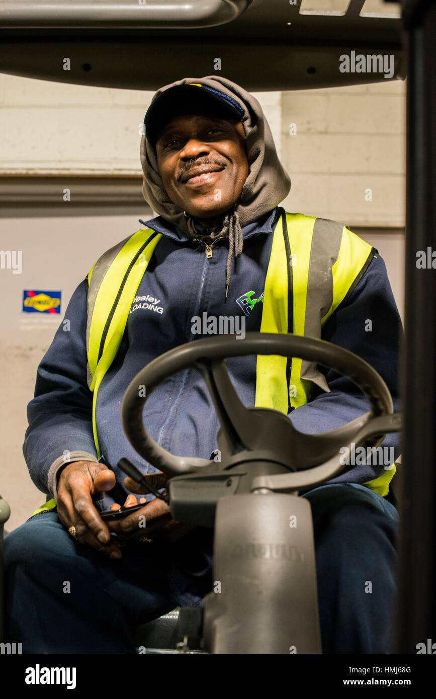 Driving Jobs Nyc >> New York City Usa Forklift Driver Waiting For Work In