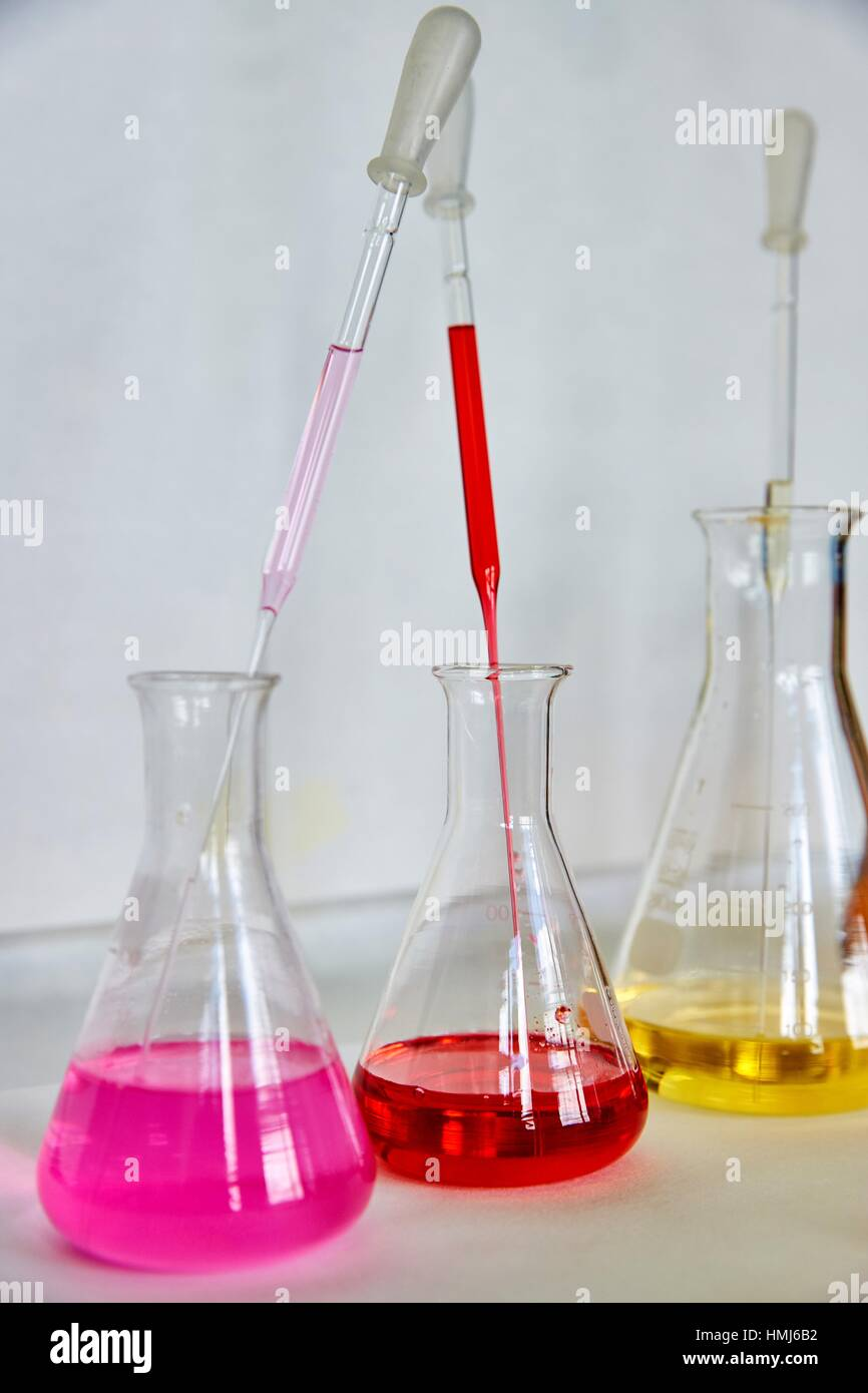 Pharmaceutical Development Laboratory. Pre-formulation, design and development of drugs and new pharmaceuticals. - Stock Image