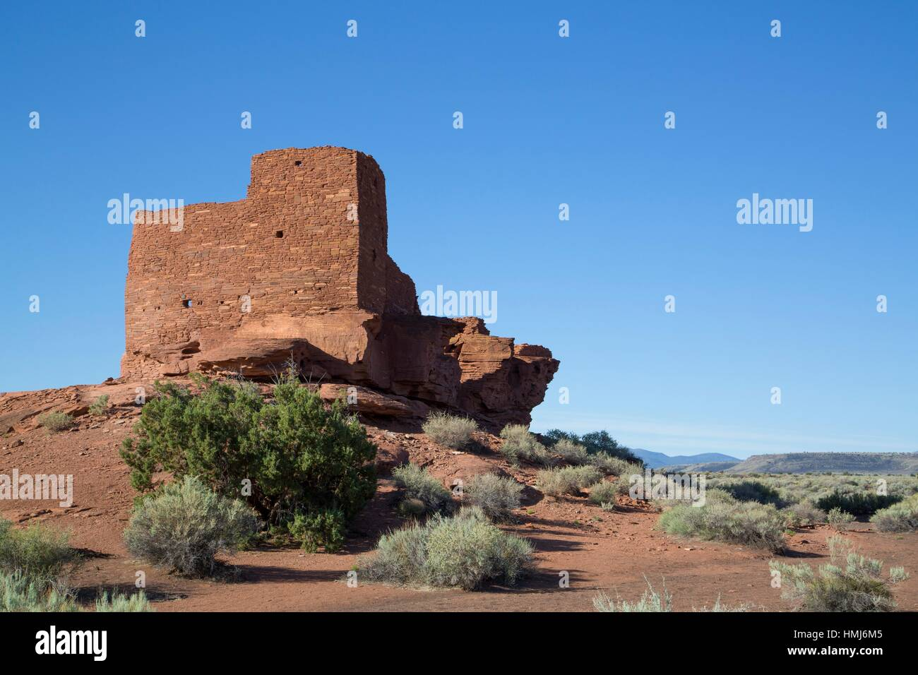 Wukoki Pueblo, Inhabited from approximately 1,100 AD to 1,250 AD, Wupatki National Monument, Arizona, USA - Stock Image