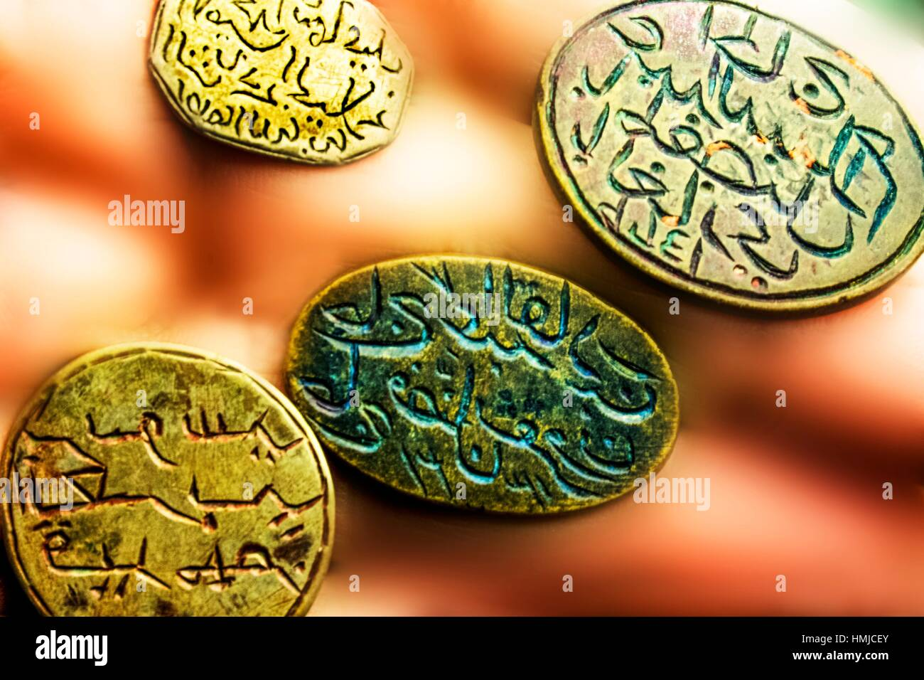 Handicrafts: seals (19th-20 century) from Tafilalet, Morocco - Stock Image