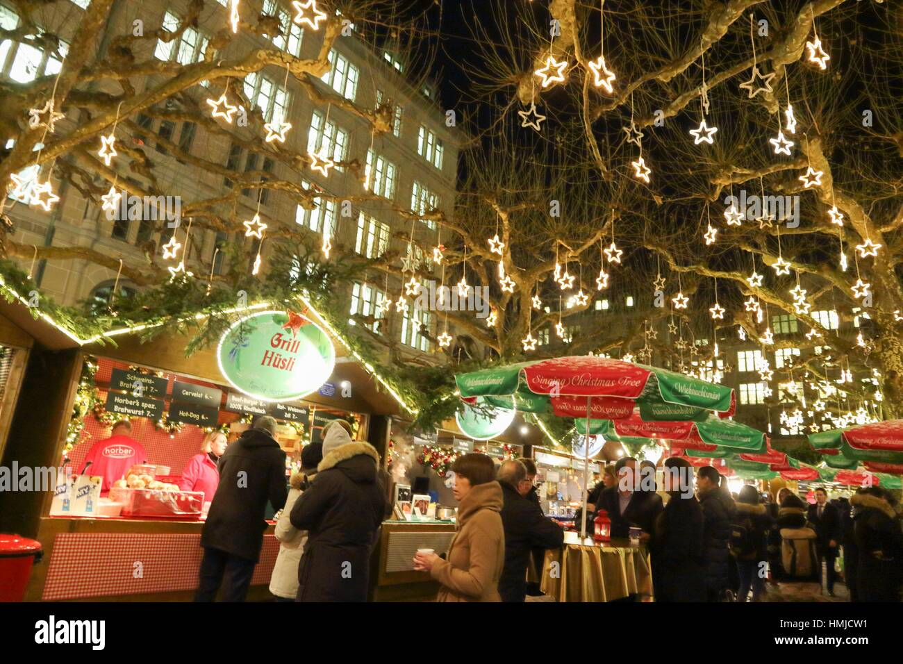 Zurich the old city on Christmas time on December 7, 2015. - Stock Image