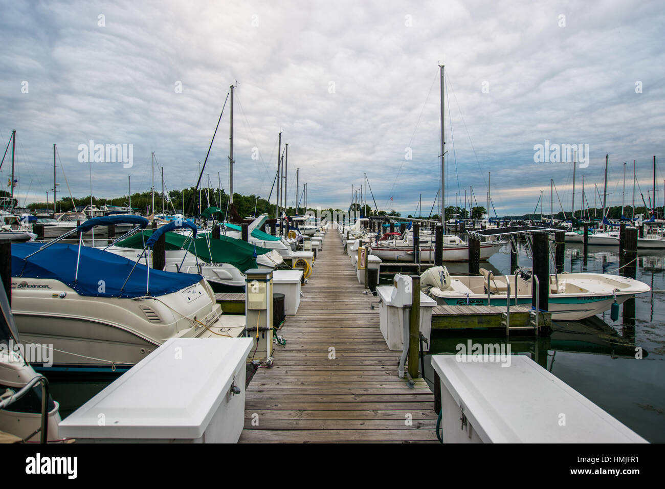Warm Cloudy day in Havre De Grace, Maryland on the Board