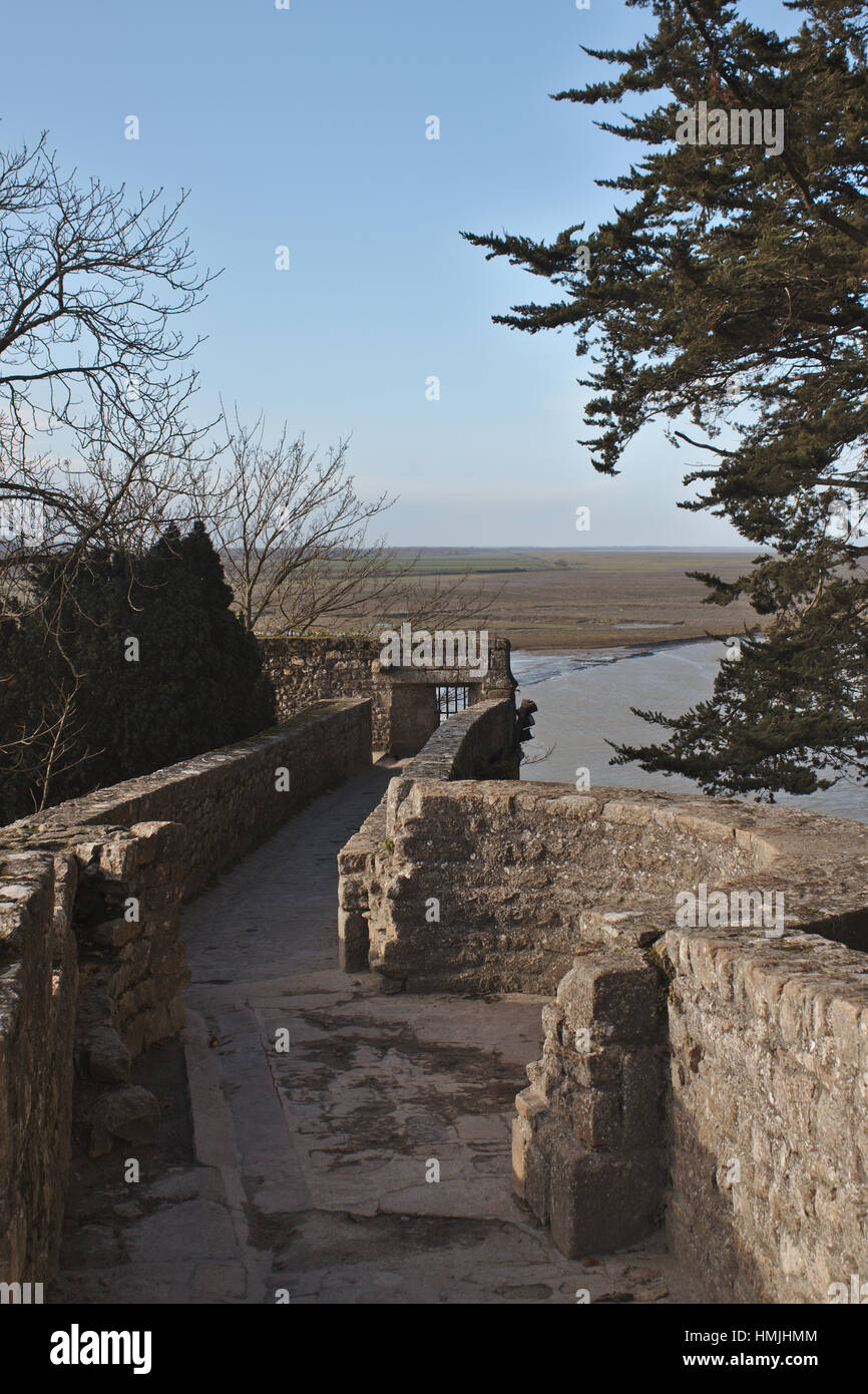 View from the Mont Saint-Michel - Stock Image