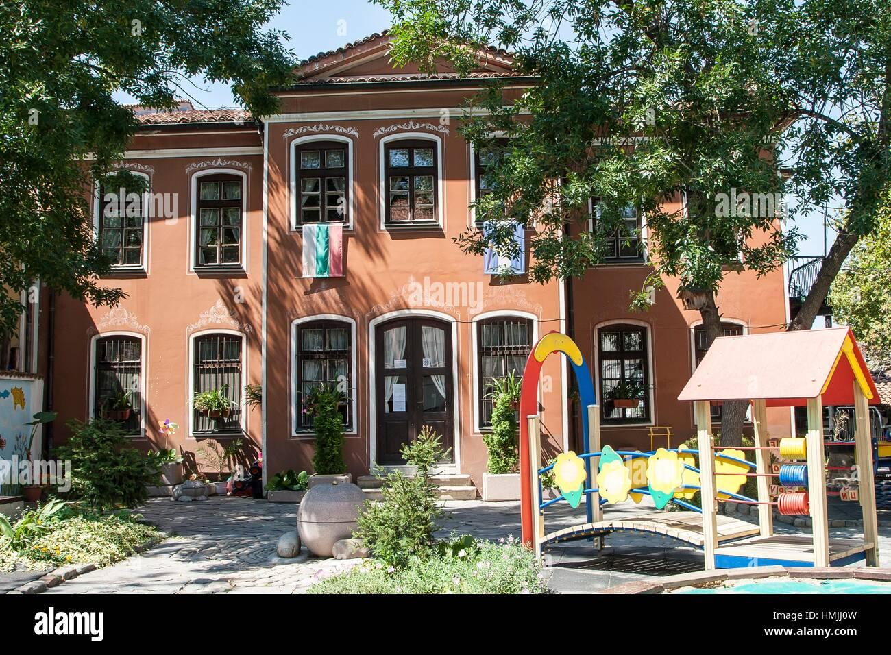 Kindergarten ''Cricket'', Plovdiv, Bulgaria. - Stock Image